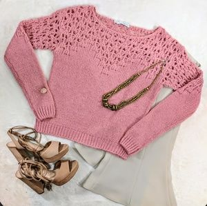 Rose Crocheted Sweater