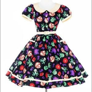 Pinup Girl Clothing Dresses & Skirts - Pinup Girl Clothing Dee Dee dress Cthulhu print L