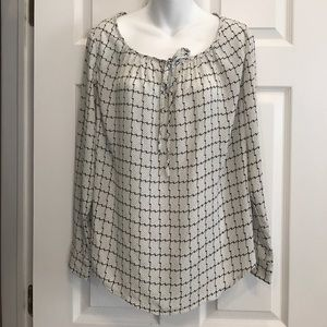 Gibson Tops - Gibson Tie Neck Peasant Blouse-NWOT