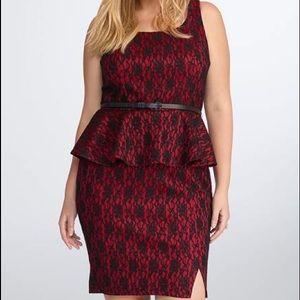 New with tags lace peplum dress