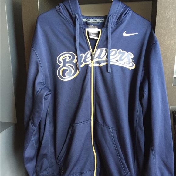 cheaper d9272 bd8e8 Nike Milwaukee Brewers Zip Up Hoodie
