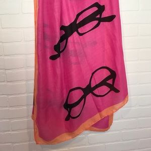 Target Accessories - Eyeglasses print scarf pink orange super cute!