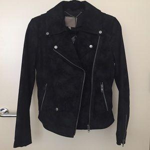 Muubaa Jackets & Blazers - Muubaa Flint Black Suede Biker Jacket