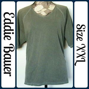 Eddie Bauer Tops - NWT Sz XXL Eddie Bauer Sage Vneck T-Shirt