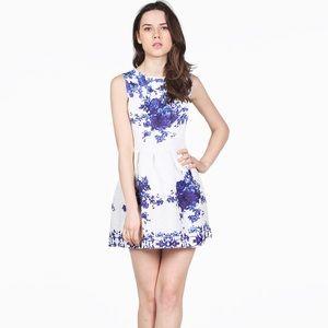Authentic Original Vintage Style Dresses & Skirts - Porcelain Vintage Flare Short Dress
