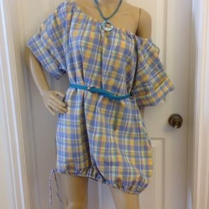 Plaid Beach Dress NWOT