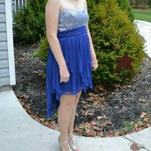 My Michelle Dresses & Skirts - Strapless blue sequins dress.