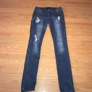 Papaya Denim - Ripped skinny jeans.