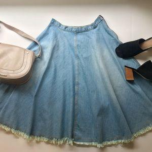 Rachel Comey 'Buckeye' Frayed Denim Skirt