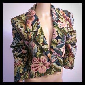 Todd Oldham Jackets & Blazers - Vintage 90's Todd Oldham Floral Tapestry Jacket