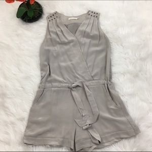 MM Couture Pants - Miss Me Studded Silk Romper