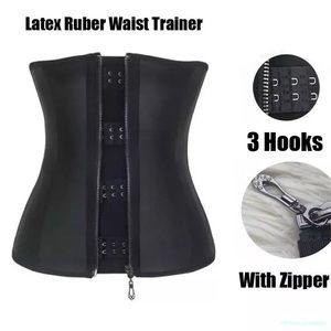 Other - 100% Latex Rubber Zip Up Waist Trainer Body Shaper
