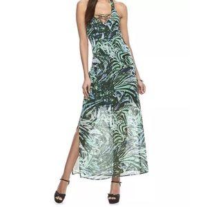 Jennifer Lopez Dresses & Skirts - JLO Jennifer Lopez Green Lace-Up Halter Maxi Dress