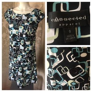 Connected Apparel Dresses & Skirts - CONNECTED Apparel Mod Vintage Style Dress