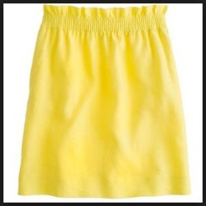 J. Crew Dresses & Skirts - NWT J.Crew yellow city mini linen skirt size 6