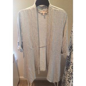 Gibson Latimer Sweaters - Textured Open Front Cardigan