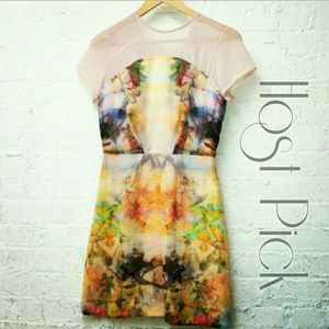 *2X HP* NWT LF Neon Rainbow Buddha Floral Dress