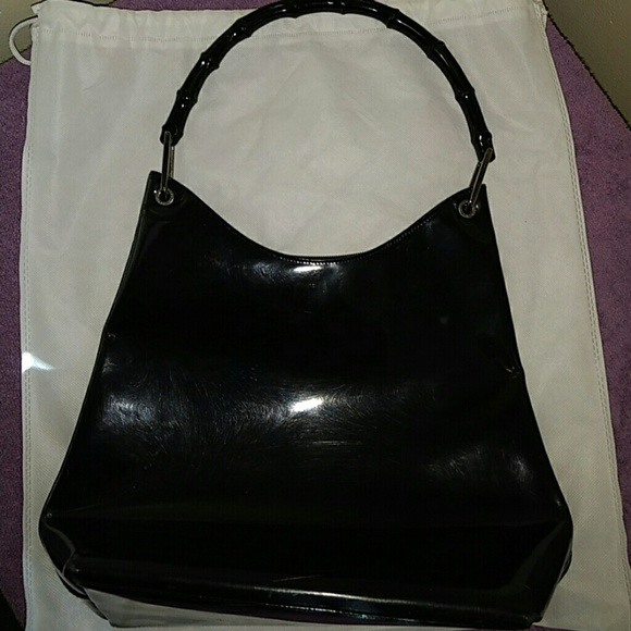 Gucci Handbags - Vintage Gucci bag with bamboo handle e76a69ad4a485