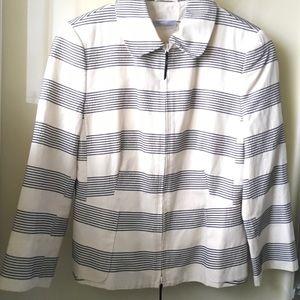Akris Jackets & Blazers - Akris punto  cotton striped jacket