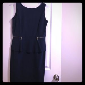 Emma and Michele Dresses & Skirts - Navy Blue Peplum Dress