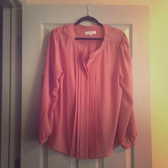 Loft Tops Dressy Pink Blouse Poshmark