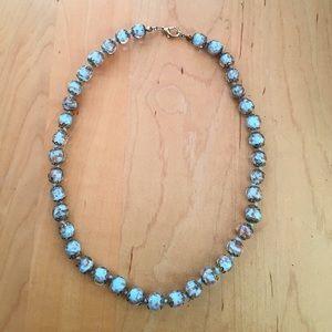 J. Crew Jewelry - Beautiful Blue Italian Murano Glass Bead Necklace