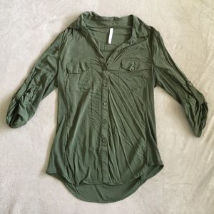 DNA couture Tops - Army Green Button Up