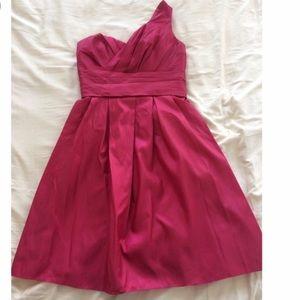 David's Bridal Dresses & Skirts - David's bridal one shoulder red dress