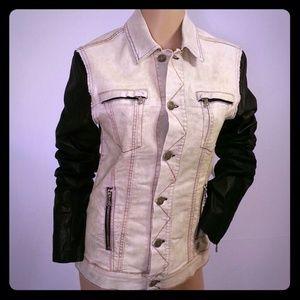 Pierre Balmain Jackets & Blazers - Pierre Balmain Denim Black Leather Jacket