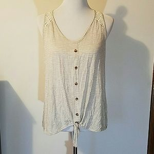 Maurices Tie-Front Tank