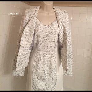 ANTONIO MELANI Other - ANTONIO MELANI JACKET & DRESS. White with Gray.