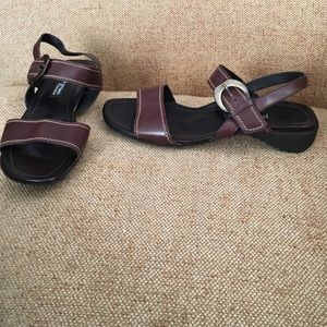 Paul Green Shoes - Leather Paul Green Sandals Size 5