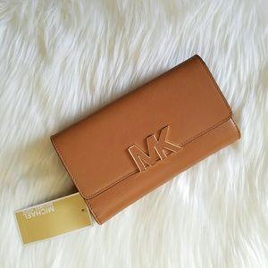 NWT Michael Kors Cognac Wallet!I Authentic!!