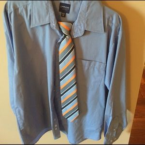 Arrow Other - Boys button down long sleeve shirt and tie size 16