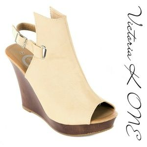 Tory K  Shoes - Tory K Women Wedge Sandals, HW-2077, Beige