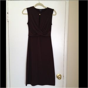 Moda International chocolate sleeveless dress
