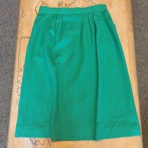 1970s High Waisted Skirt
