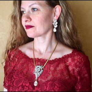 """Marisa"" Easter Crystal Statement Necklace Set"