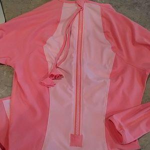 lululemon athletica Tops - Peach Lululemon long sleeve back zip top