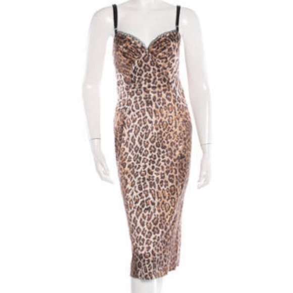 14632dca75e1 Dolce & Gabbana Dresses & Skirts - Dolce & Gabbana Leopard Print Dress