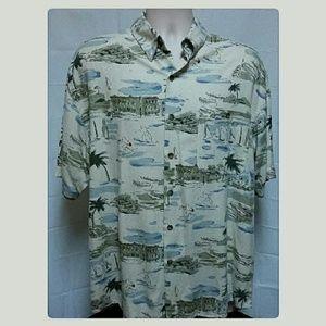 Men's David Taylor 100% Silk Washable Resort Shirt