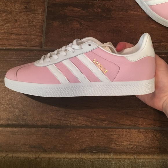 5657954f47eb Pink Adidas Customized Gazelle Shoes!