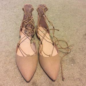 Zara Shoes - BNWT Zara suede lace up flats