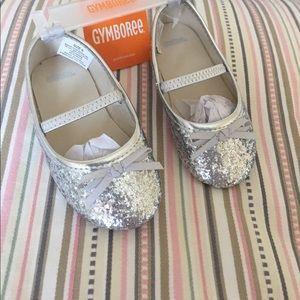 Gymboree Other - NWT Gymboree Silver Glitter Sparkle Shoes