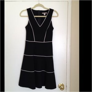 Banana Republic black with white stripes dress.