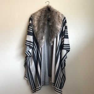 Merona Jackets & Blazers - Poncho with faux fur