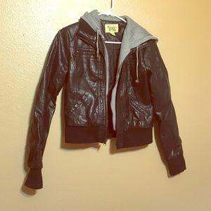 Maralyn & Me Jackets & Blazers - Black leather jacket
