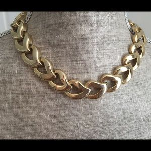 Vintage Gold Tone Paisley Necklace