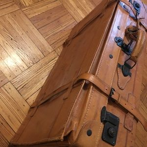 Vintage leather luggage! Polo Ralph Lauren tag!