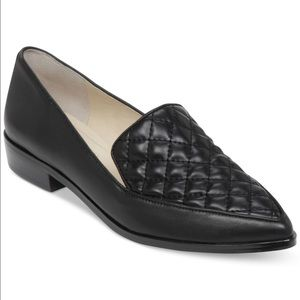 BCBGeneration Shoes - BCBGeneration Black Leather Quilted Loafer Flat